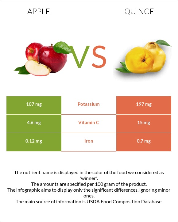Apple vs Quince infographic