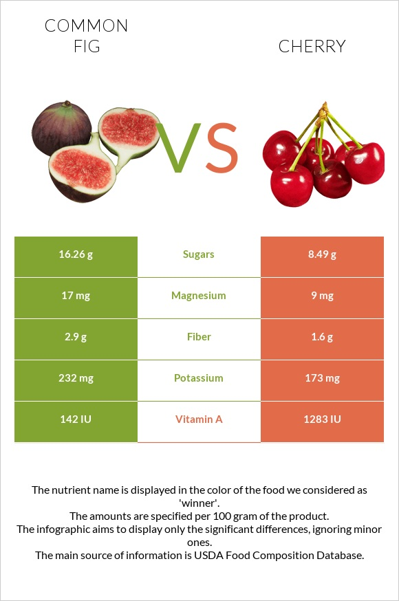 Common fig vs Cherry infographic