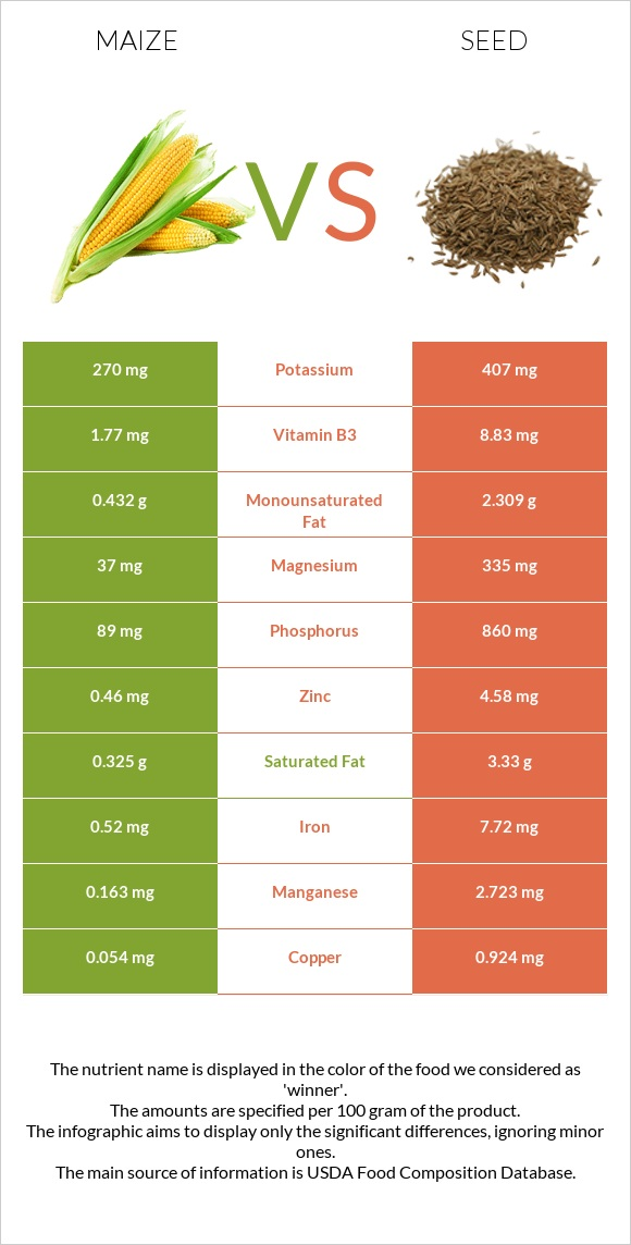 Maize vs Seed infographic