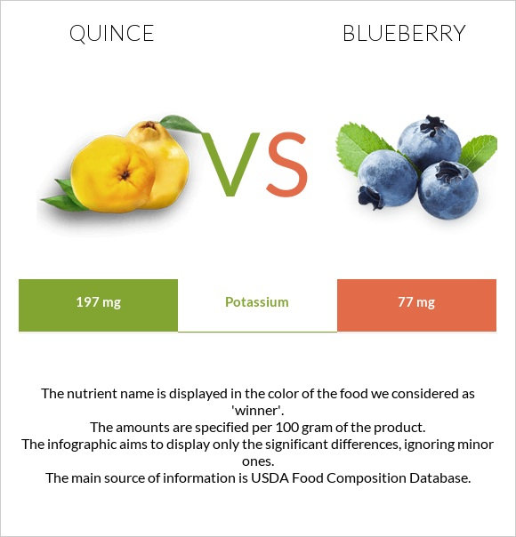 Quince vs Blueberry infographic