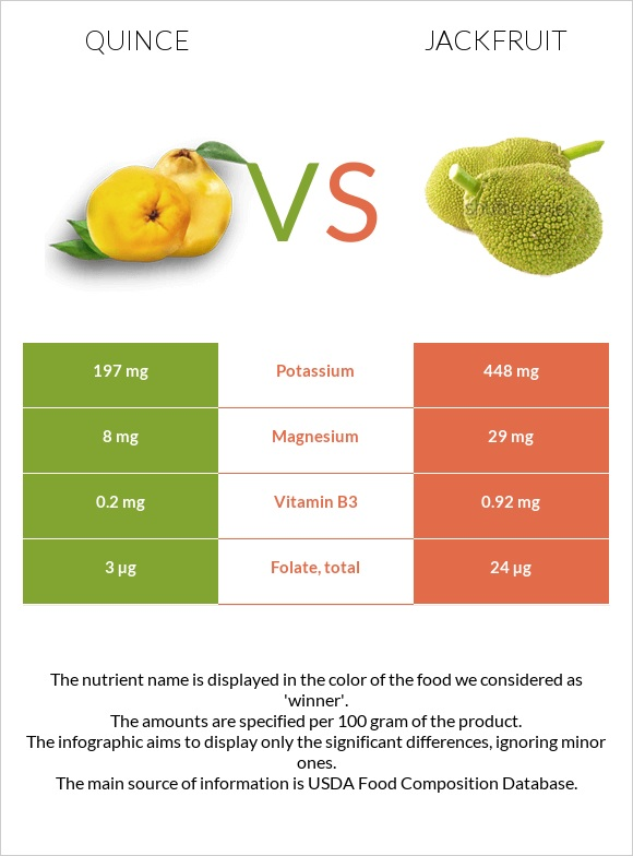 Quince vs Jackfruit infographic