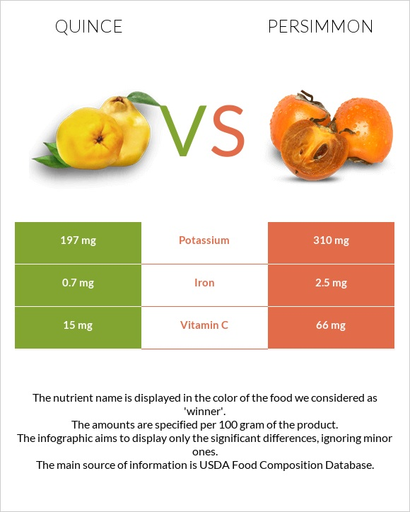 Quince vs Persimmon infographic