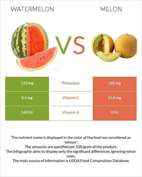 Watermelon vs Melon infographic